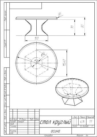Деревянный круглый стол своими руками чертежи